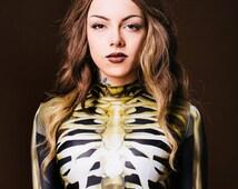 Skeleton Fullbody Suit, Womens Halloween Costume, Halloween Costume, One Piece Costume, Fully Secured, Skeleton Bones, Cosplay Outfit