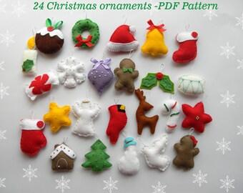 Easy PDF pattern Felt Ghost ornament Halloween ornaments