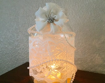 Shabby Chic Candle