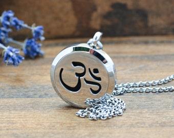 Aromatherapy Necklace - Meditation - Self Care - Essential Oil Diffuser Necklace - Om Necklace - Diffuser Jewelry - Aromatherapy Jewelry