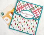 Dad Christmas Gift Card Holder - Father Christmas Cards - Merry Christmas Dad Money Card - Dad Christmas Cards