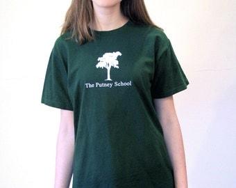Vintage Vermont Putney School T-Shirt, Green Vermont T-shirt, Prep School, High School VT T-shirt, Oak Tree Tee, M