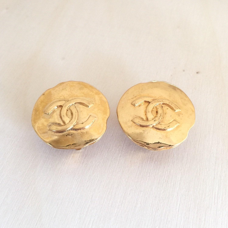 vintage 1993 chanel cc earrings