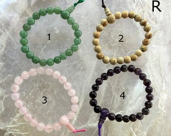 Gemstone Prayer Bracelet | Yogi Bracelet | Your Choice of Gemstone