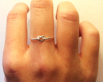 Adjustable Knot Ring ~Tie the Knot Ring ~Bridesmaid Gift Set 3 4 5 6 7 8 9~14K Gold /Rose Gold-Filled /Sterling Silver ~Knotted Love Promise