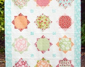 Extra Large Twin Size Quilt and Pillow Sham - Hello Darling Fabric Collection - READY TO SHIP - Homemade Quilts