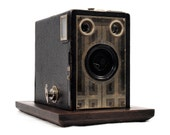 Secret Box, Stash Box with Display Base repurposed from Authentic 1930s Kodak Brownie Junior Six-16 Camera