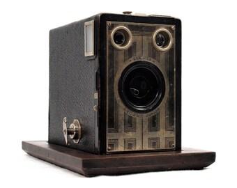 Secret Box, Stash Box with Display Base repurposed from Authentic 1930s Kodak Brownie Junior Six-16 Camera