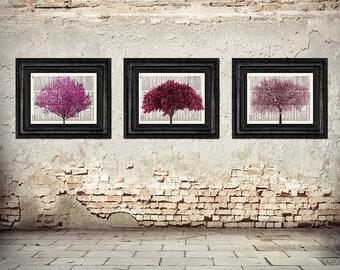 Cherry Blossom Tree, Cherry Blossom Art, Japanese Tree, Japanese Art, Blossom Trees, Zen Decor, Japanese Decor, Cherry Blossom Wall Art, 034