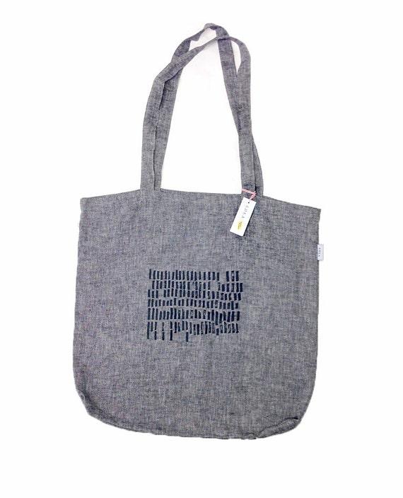 Tote bag gray market bag Large Tote Bag gray canvas tote by