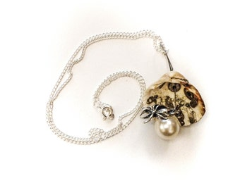SALE - Pearls and Spiders - Necklace Pendant