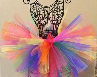 Birthday Tutu, Rainbow Tutu, Sesame Street Birthday Outfit, Colorful Tutu, Baby Tutu, Toddler Tutu, Baby Tutu, Infant Tutu, Photo Prop