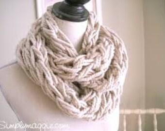 Infinity Scarf Arm Knit- Birthday, Christmas, Holiday, Winter, Cozy, Cuddle