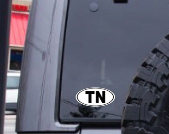 TN decal, Tennessee decal, decal sticker, FREE SHIPPING, White vinyl decal, yeti decal, laptop decal #241