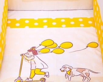 Nestchen für ganzes Bett Mädchen mit Luftballons