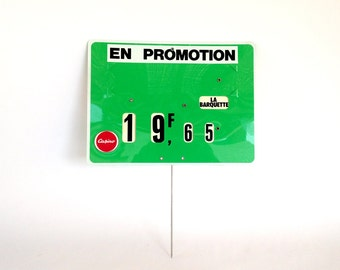 French Display Labels CASINO / Vintage French fruits Price Tickets