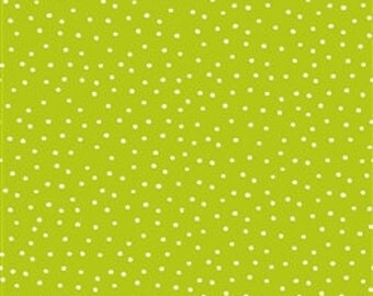 Quilting Treasures Carousel Dot's Lime Quilters cotton fabric BTY