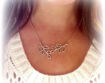 Silver Filigree Leaf Charm, Charm Necklace, Silver Necklace, Gift for Her, Nature Necklace, Simple Necklace, Dainty necklace, Elegant