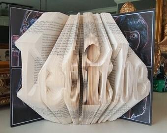 Let it Be Folded Book Art, The Beatles, Fab Four, Let it Be, Beatlemania, The Beatles Let it Be, Beatles Memorabilia, The Beatles History