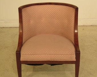 F39432E: HERITAGE Mid Century Modern 1960's Small Cherry Boudoir' Chair