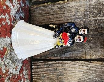 Skeleton Couple Wedding Cake Topper