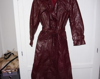 SEARS leather trench size 38-40