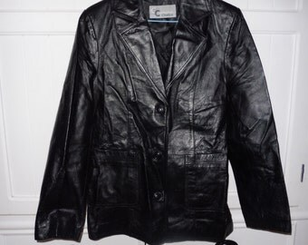 COLLECTION CHALICE size 38 leather jacket
