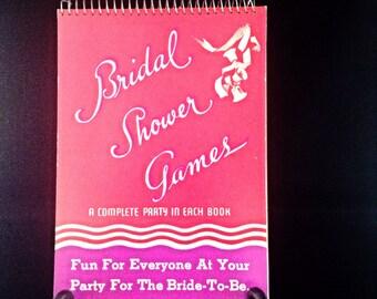 CLEARANCE Vintage bridal shower games SET OF 4