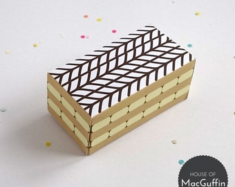 Printable Mille-Feuille gift box (Jpeg download)