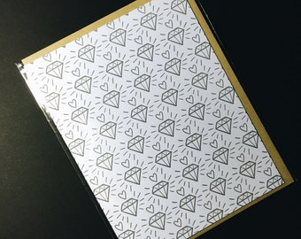 Hearts and Diamonds Greeting Card