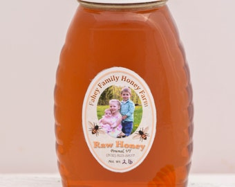 Raw Vermont wildflower honey, raw honey, unpasteurized honey, wildflower honey, 2lb glass jar, all natural honey