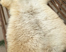 "Large, Medium Staple America Sheepskin - Sustainably raised - 36""x50"""