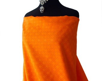 orange cotton jacquard high quality substantial shiny