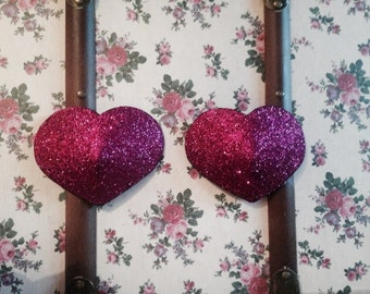 pink heart nipple covers