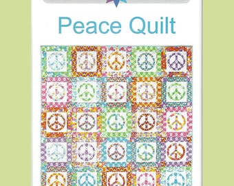 PEACE QUILT Quilt Pattern  and Peace Template - by Australian Designer Emma Jean Jansen