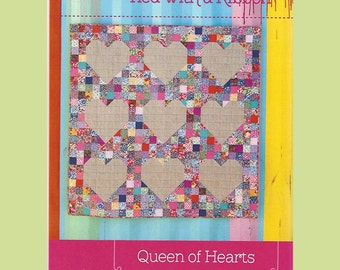 QUEEN OF HEARTS - Quilt Pattern - by Australian Designer Jemima Flendt - brand:  Tied With A Ribbon