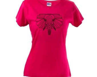 Wild Elephant Women's T-Shirt Gym Slogan Animal StyleTee