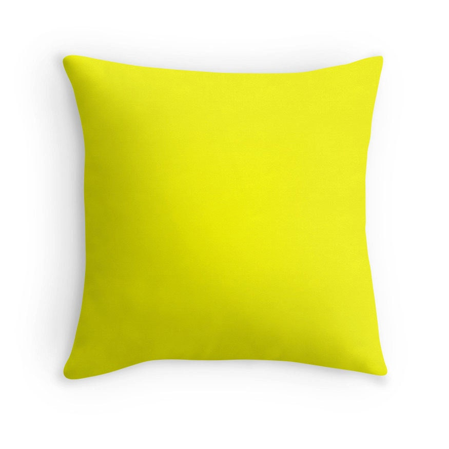 Yellow Decorative Pillows For Bed : Yellow Pillow Yellow Throw Pillow Yellow Bedding Yellow