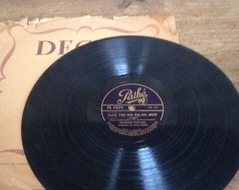 Vintage French Record - C'est vous mon seul amour