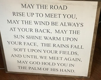 Irish blessing sign with frame