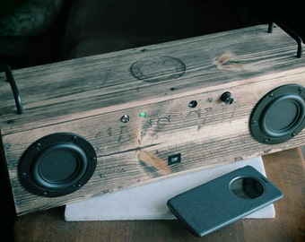 SALE: Large One-Of-A-Kind Bluetooth Speaker > Rusticated > Distressed > Artisan Crafted > Reclaimed > Repurposed > Made In California, USA