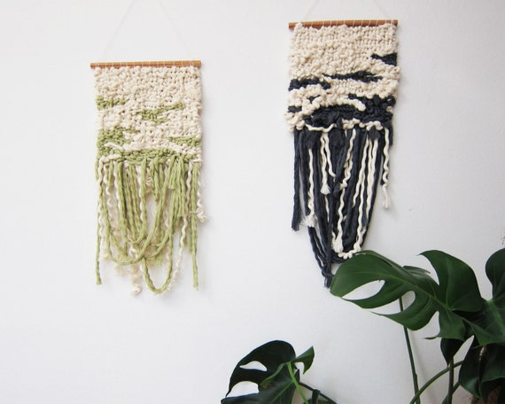 "Woven wall hanging tapestry ""Guita"""