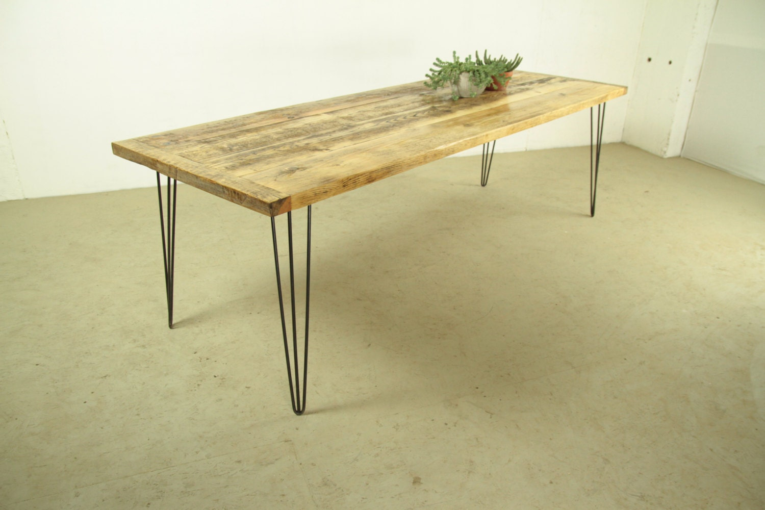 Reclaimed Wood Dining Table Modern And Industrial Home By Kentholz
