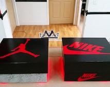 articles populaires correspondant bo te de chaussure jordan sur etsy. Black Bedroom Furniture Sets. Home Design Ideas
