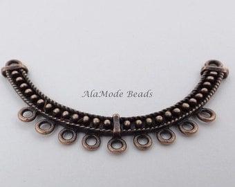 ON SALE Curved Necklace Bar Chandelier (1) Antique Copper 2 to 9 Chandelier Link 31X63Mm