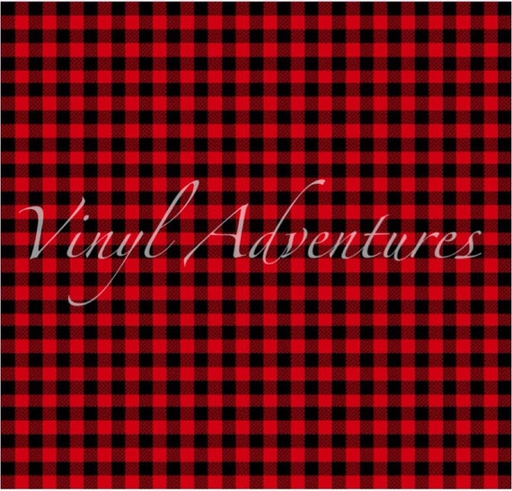 Heat Transfer Vinyl Buffalo Plaid Htv Red Black By