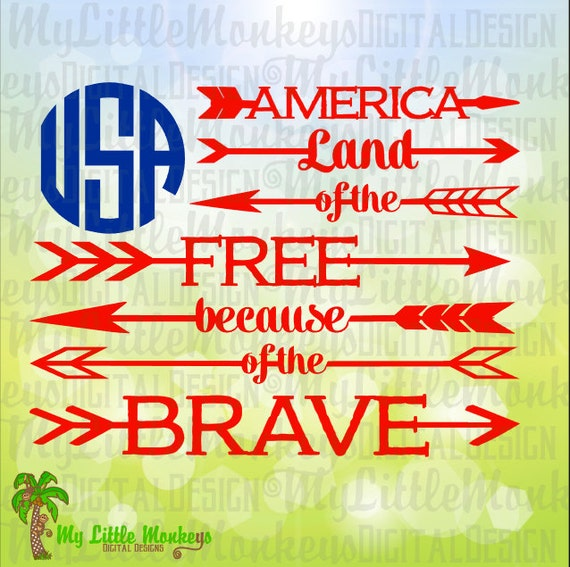 Usa flag svg america svg land of the free because of for How to get free land in usa