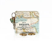 Coin purse, Map wallet, Key ring pouch, Card holder, Mini wallet, Change purse, Key chain bag, Small zipper pouch, Teacher gift, Earbud case