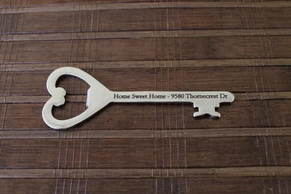 custom house warming key shaped bottle opener gift. Black Bedroom Furniture Sets. Home Design Ideas