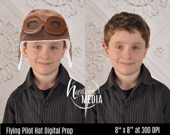Photoshop Transparent PNG Overlay Party Hats for Fun Digital Photography Prop - Top Hat, Beach Hat and Cowboy Hat